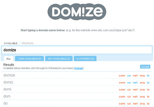 15 Tools For Selecting An Ideal Domain Name 8
