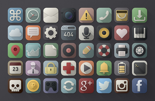 20 Fresh and Beautiful Icon Sets for Free 3