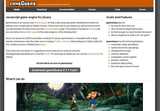 Collection of Javascript & HTML5 Game Engines Libraries 12