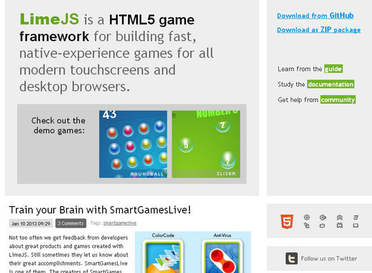 Collection of Javascript & HTML5 Game Engines Libraries 18