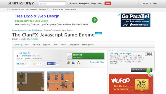 Collection of Javascript & HTML5 Game Engines Libraries 6