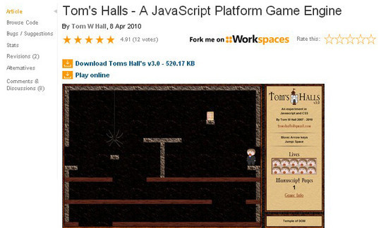 Collection of Javascript & HTML5 Game Engines Libraries 32