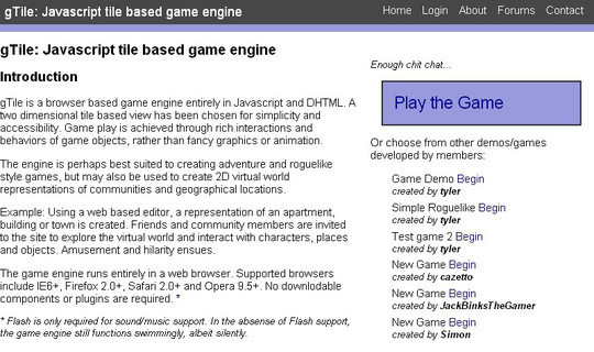 Collection of Javascript & HTML5 Game Engines Libraries 35