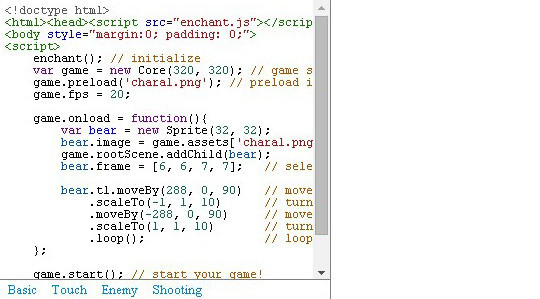 Collection of Javascript & HTML5 Game Engines Libraries 40
