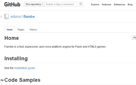 Collection of Javascript & HTML5 Game Engines Libraries 34