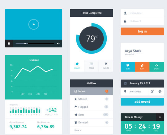 45 Free Design Resources: HTML5, CSS, UI Kits And PSDs 24
