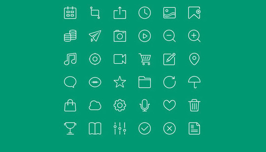 Collection Of Free High-Quality Line Icon Sets 12
