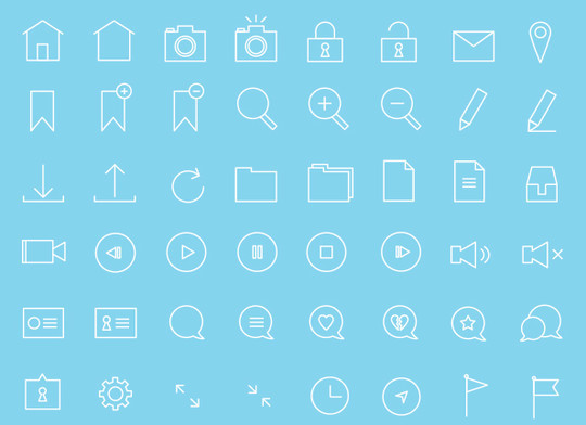 Collection Of Free High-Quality Line Icon Sets 15