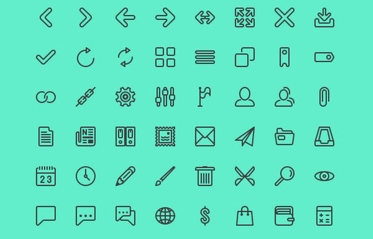 Collection Of Free High-Quality Line Icon Sets 9