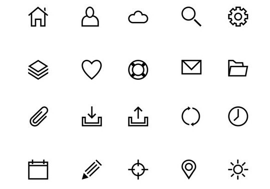 Collection Of Free High-Quality Line Icon Sets 19