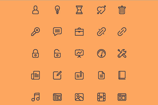 Collection Of Free High-Quality Line Icon Sets 34