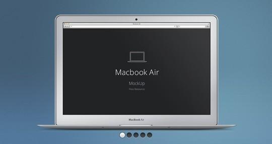 15 Free MacBook Mockup PSD Designs 110