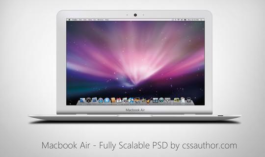 15 Free MacBook Mockup PSD Designs 11