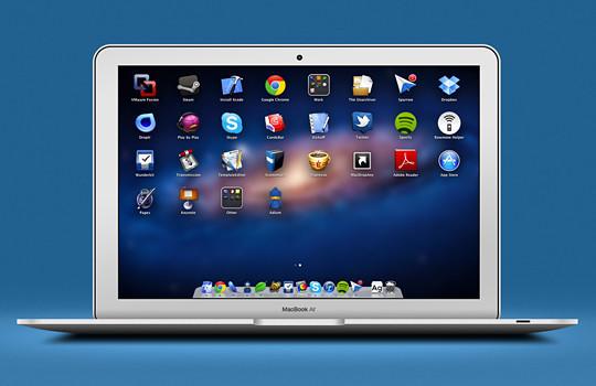 15 Free MacBook Mockup PSD Designs 2