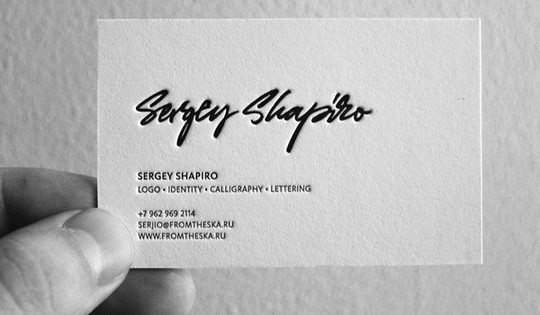 Modern and Graceful Business Card Examples 9