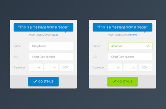 13 Payment Form Photoshop Files For Free Download 8