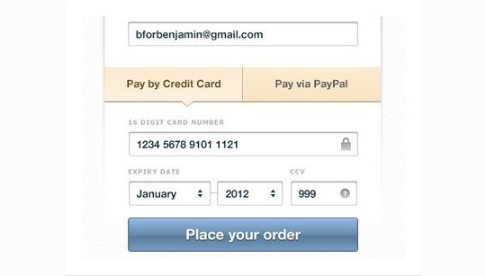 13 Payment Form Photoshop Files For Free Download 3