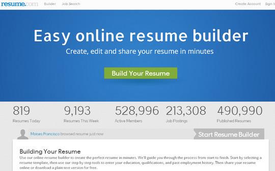 Free Online Resume Maker Tools 7