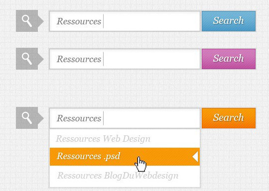 36 Useful Search Box Designs In Photoshop Format 37
