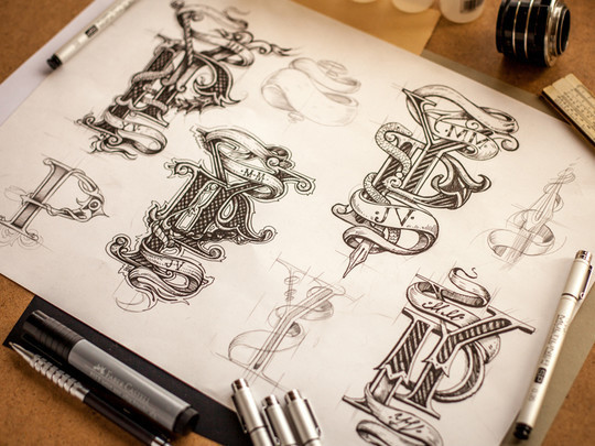 Creative Examples Of Logo Brand Identity Sketching 12