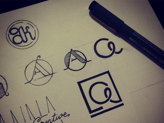 Creative Examples Of Logo Brand Identity Sketching 33