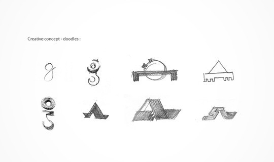 Creative Examples Of Logo Brand Identity Sketching 53