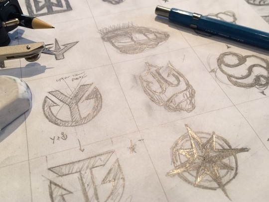Creative Examples Of Logo Brand Identity Sketching 9