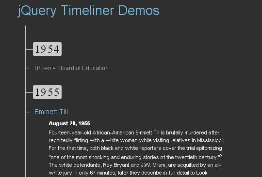 14 jQuery Free Timeline Plugins 7