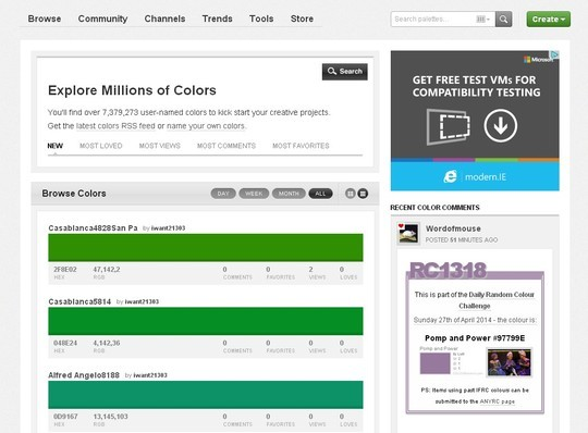 Excellent Collection Of Web Color Picking, Palettes & Scheme Generating Tools For Designers 13