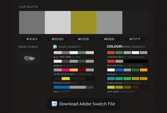 Excellent Collection Of Web Color Picking, Palettes & Scheme Generating Tools For Designers 30