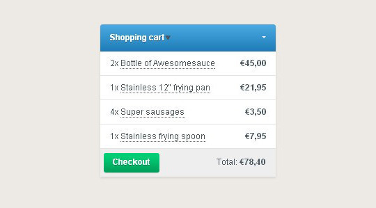7 Free HTML5 CSS3 Checkout Forms 54