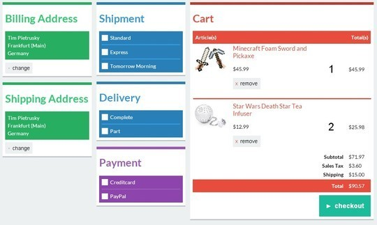 7 Free HTML5 CSS3 Checkout Forms 4