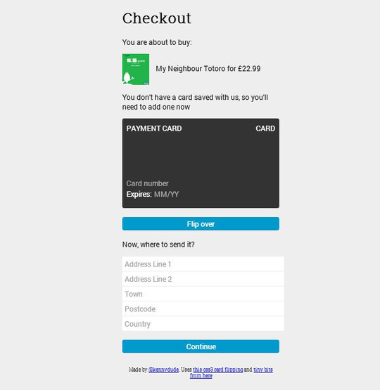 7 Free HTML5 CSS3 Checkout Forms 5