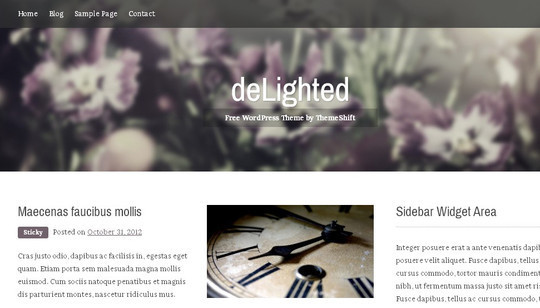 40 Clean and Simple Free WordPress Themes 20