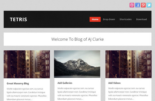40 Clean and Simple Free WordPress Themes 30