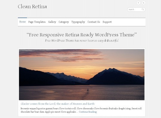 40 Clean and Simple Free WordPress Themes 34
