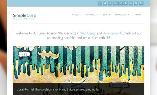 40 Clean and Simple Free WordPress Themes 14