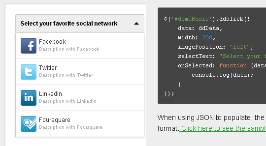 15 jQuery Dropdown/Select Box Plugins & Tutorials 2