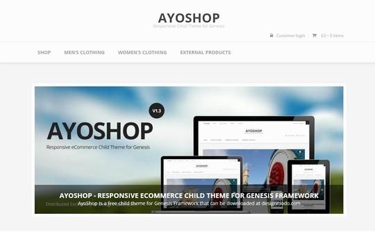 10 WordPress FREE Themes To Start Your Own eStore 10