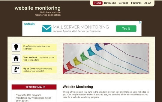 40 Free Web Services & Tools To Monitor Website Downtime 8