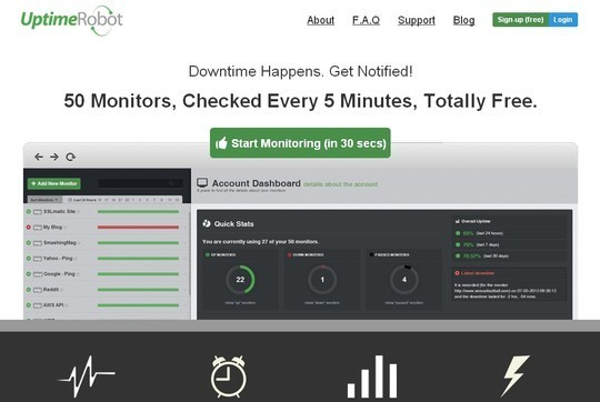 40 Free Web Services & Tools To Monitor Website Downtime 4