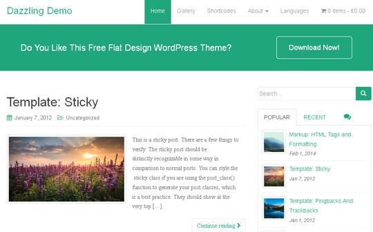 40 Fresh And Free WordPress Themes 15