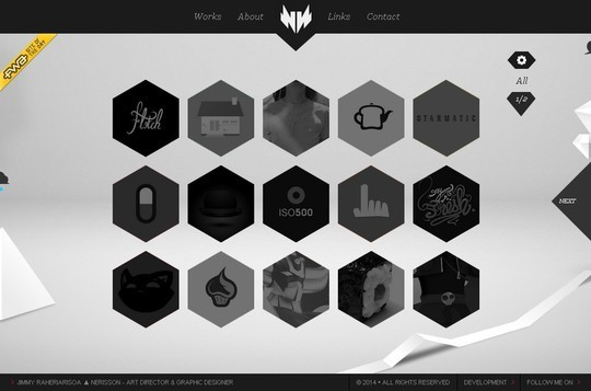 Stunning Shades of Grey in Web Designs 50