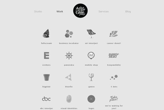 Stunning Shades of Grey in Web Designs 7