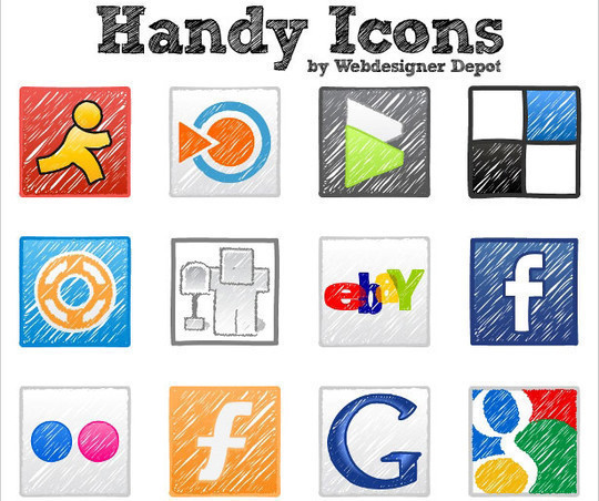 17 Free Awesome Hand-Drawn Icon Sets 9