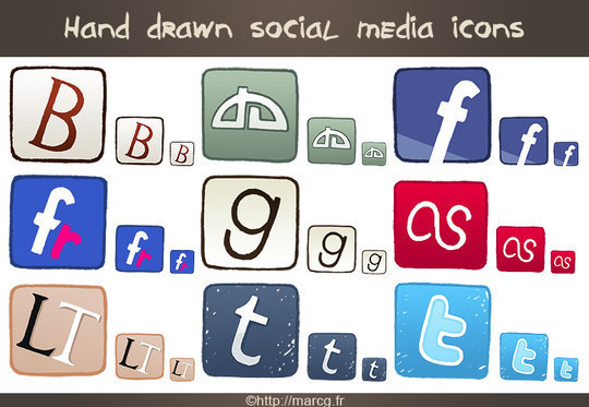 17 Free Awesome Hand-Drawn Icon Sets 13