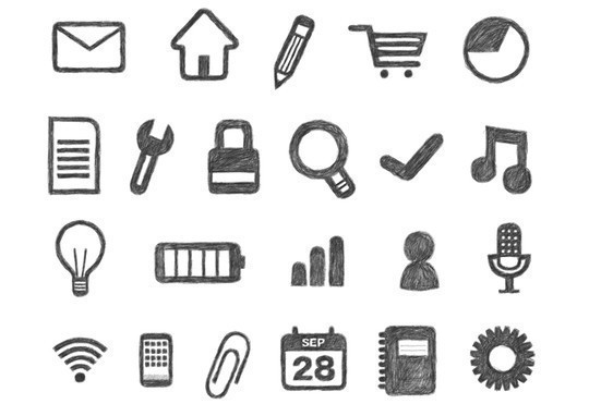 17 Free Awesome Hand-Drawn Icon Sets 14