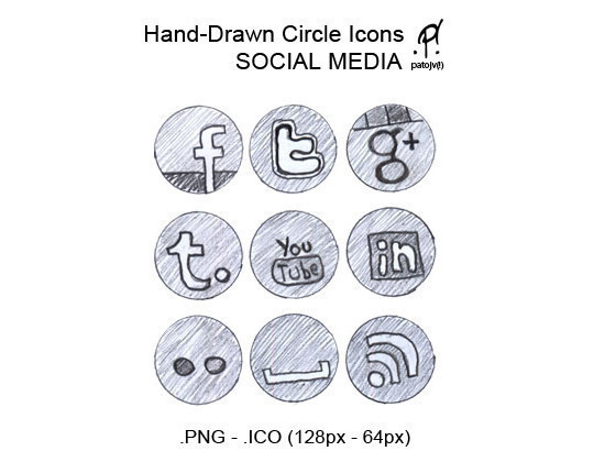 17 Free Awesome Hand-Drawn Icon Sets 16