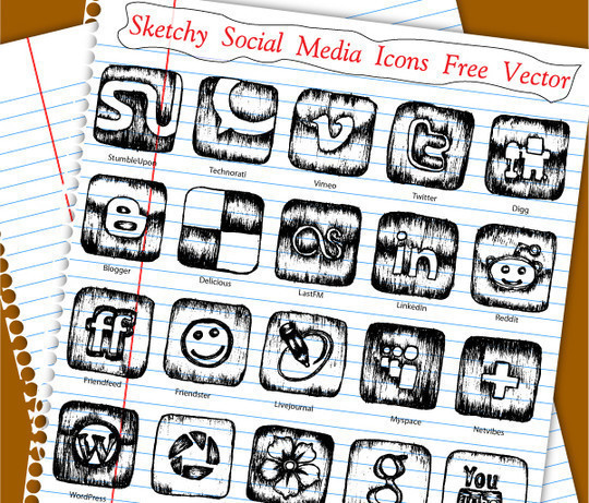 17 Free Awesome Hand-Drawn Icon Sets 8