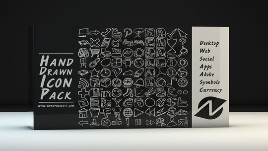 17 Free Awesome Hand-Drawn Icon Sets 55